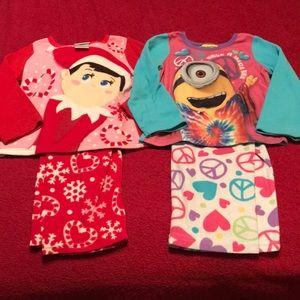 Other - Size 4 Elf on the Shelf/Minions Fleece Pajamas